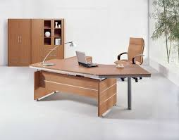 desk in office. Executive Brown Wood Office Table Desks Furniture Design Ideas For Home With Curved Shaped Simple Flat Desk In