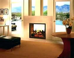 double sided outdoor fireplace gas indoor magnificent home design log set