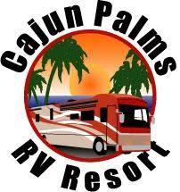 Image result for cajun palms rv resort logo