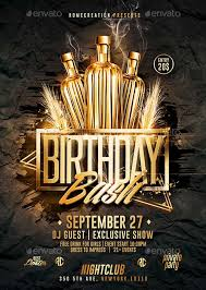 Gold Birthday Bash Psd Flyer Template Download Psd Flyer