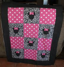 47 best minnie mouse images on Pinterest   Beautiful, Candies and ... & Minnie mouse inspired quilt by MyMoochies on Etsy, $50.00 Adamdwight.com