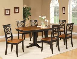dining table chairs leather. full image for elegant rectangular black kitchen table with wood top standing on a white rug dining chairs leather