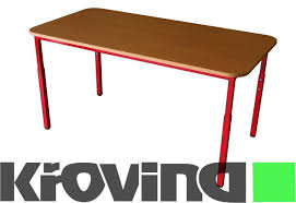 school rectangle table. VARIO II Rectangle Table, Painted, With Adjustable Height School Table