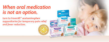 Feverall Acetaminophen Suppositories For Fever Pain Relief