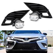 2017 Toyota Camry Led Fog Lights Jdm Style Oem Spec 15w Led Fog Light Kit For 2018 Up Toyota Camry Se Xse 2 Led Fog Lamps Gloss Black Bezel Covers Relay Wiring Switch
