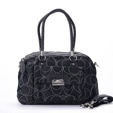 Coach Kristin Lock Signature Medium Black Totes EXJ