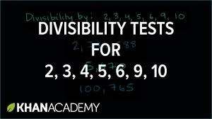 Divisibility tests for                        Factors and     YouTube