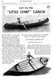 skin on frame canoe plans little chief