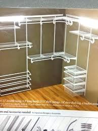 closet maid shelf track 5 ft 8 ft closet organizer closetmaid shelftrack 20 in bracket