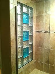 decorated glass blocks glass block shower window with colored glass blocks lighted glass block walls