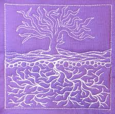 The Free Motion Quilting Project: Day 365 - Infinity Tree & free motion quilting   Leah Day Adamdwight.com