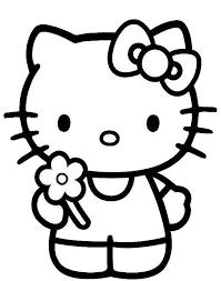 Klik Hier Om De Hello Kitty Kleurplaat Te Downloaden Knutselen