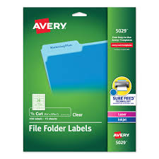 Clear Permanent File Folder Labels With Sure Feed Technology