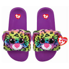Beanie Boo Slippers Size Chart Ty Beanie Boo Dotty The Leopard Pool Slides