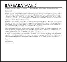 Job Resignation Letter Sample Template Best Resignation Letter Example Due To Hostile Work Environment Letter