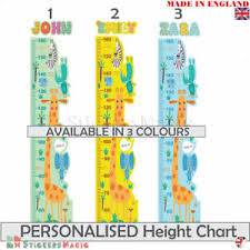 Personalised Height Chart Details About Personalised Height Chart Wall Sticker Safari Animal Girl Boy Kids Growth Ruler