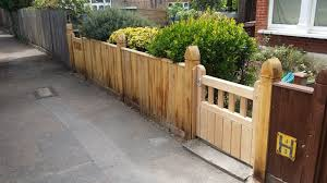 new garden fence and gate in herne hill