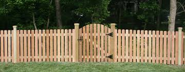 wood picket fence gate. Wooden Fence- Red Cedar Dogeared Fence With Arched Gate Wood Picket