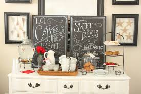 Small Chalkboard For Kitchen Simple And Small Coffee Station Table With Drawer Painted With