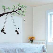 tree and swing wall art stickers on wall art stickers tree with tree and swing wall art stickers will belong to you your wife and