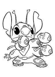 Lilo And Stitch Coloring Pages Stitch With Gun Coloringstar