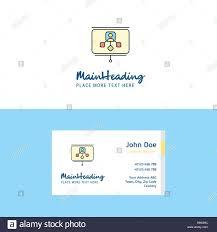 Logo Design Concept Presentation Flat Presentation Logo And Visiting Card Template Busienss