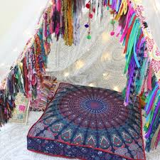 Image Ottoman Blue Mandala Floor Cushion Cover Bohemian Ethnic Mandala Floor Cushion Indian Meditation Cushion Pinterest Blue Mandala Floor Cushion Cover Bohemian Ethnic Mandala Floor