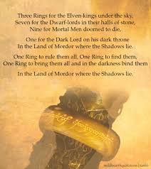 Lord Of The Rings Ring Quote Gorgeous Middleearth Quotes