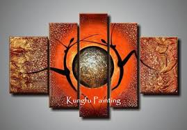 wall art paintings for living roomShop Paintings Online 100 Hand Painted Unframed Abstract 5 Panel