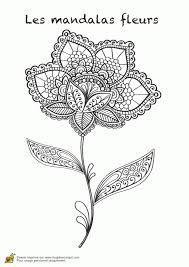 Coloriage Les Mandalas Fleurs Sur Hugo 12 Sur Hugolescargot En Coloriage Mandala Fleurs L