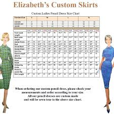 Size Chart Us To Europe Ladies Pencil Dress Pencil Skirt Standard Size Chart Us