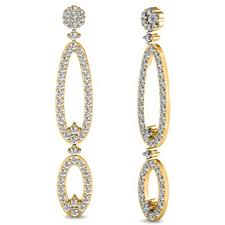 earrings duet oval crystal chandelier designer