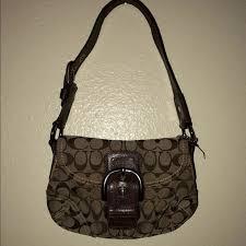 coach purse Logo monogram Purse Brown small
