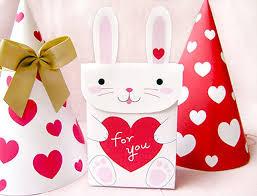 valentine s day printable bunny gift box