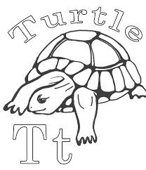 Turtle Coloring Pages Printable : Alphabet Coloring Page Turtle ...