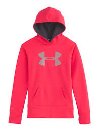 under armour jackets for girls. girls\u0027 armour® fleece storm big logo hoodie under armour jackets for girls c