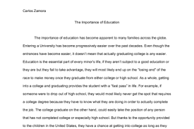 Importance Of Education Essay In Simple English Mistyhamel