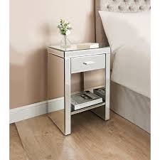 Mirrored bedside furniture Master Bedroom Home And Furniture The Best Of Mirrored Bedside Table Florence Bedroom Furniture Mirrored Bedside Thejobheadquarters Mirrored Bedside Table