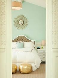 Mint green wall color of Frs bedroom