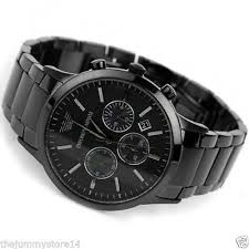 branded emporio armani watches watches for man and women branded emporio armani stylish full jet black steel men s black chronograph watch