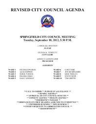 office agenda city council agenda office of the city clerk springfield il
