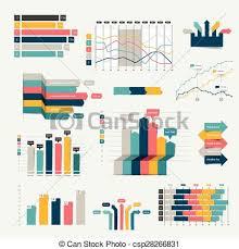 Chart Design Set Of Business Flat 3d Design Graph Infographics Charts