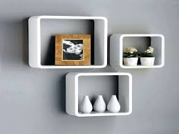 wall cubes ikea new set of 3 white black square floating cube wall storage shelves floating