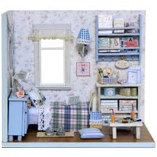 dollhouse furniture diy. 3D DIY Doll House Wooden Miniature Dollhouse Furniture Sets Mini With Sunshine Home Diy E