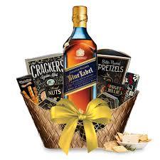 johnnie walker blue label gift basket