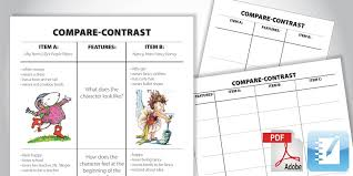 Compare And Contrast Chart Maker T Chart Sada Margarethaydon Com