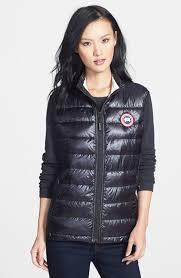 Canada Goose Women  Hybridge Lite  Slim Fit Packable Down Vests Black  Australia Sale524