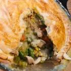 chicken pot pie  using rotisserie chicken