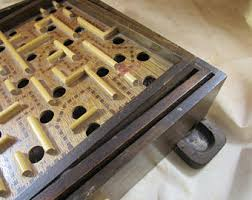 Old Fashioned Wooden Games Vintage marble maze game Etsy 97