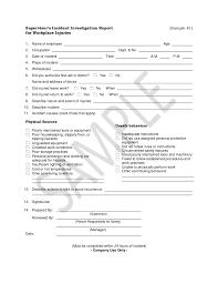 Incident Investigation Report Format Sample Under